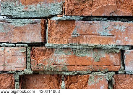 Background Of Derty Red Brick Wall Texture