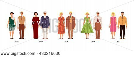 Fashion History Costume Male And Female Collection Of First Half Of 20th Century From 1900 To 1950 Y