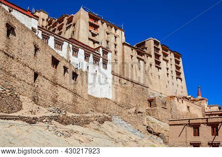 Leh Palace Is A Former Royal Palace In Leh City In Ladakh, North India