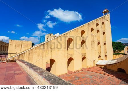 Astronomical Instruments At Jantar Mantar Ancient Observatory In Jaipur City In Rajasthan State Of I