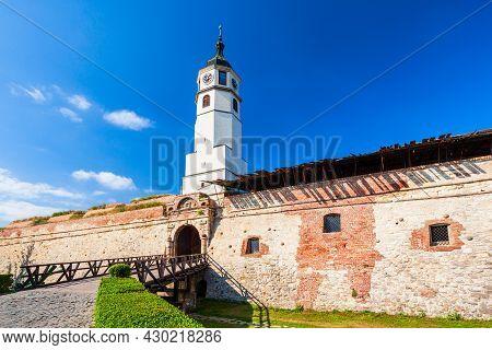 Stambol Gate And Sahat Kula Clock Tower At The Belgrade Kalemegdan Fortress In The Belgrade City In