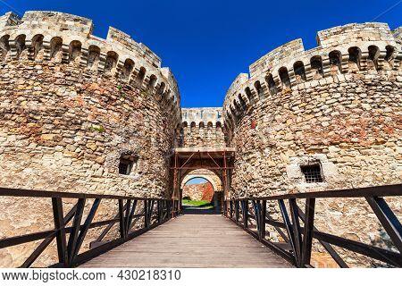 Zindan Gate At The Belgrade Fortress Or Kalemegdan Fortress In The Belgrade City In Serbia