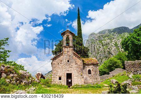 Sveti Juraj Or Saint George Is A Roman Catholic Church In Kotor, Montenegro