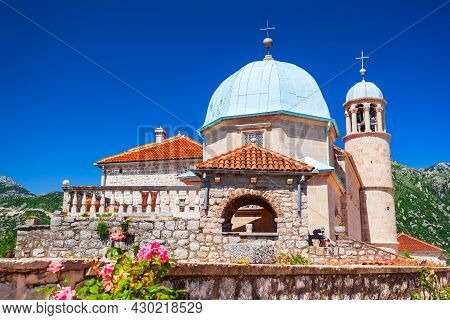 Our Lady Of The Rocks Church In The Gospa Od Skrpjela Island Near Perast Town, Bay Of Kotor In Monte