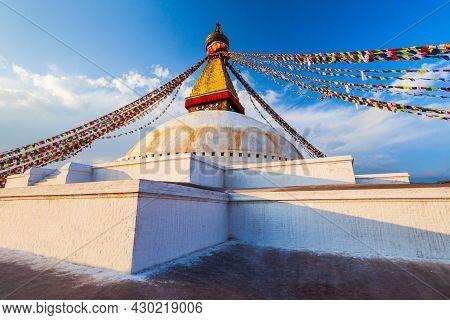 Boudhanath Great Stupa Is The Largest Buddhist Stupas In Kathmandu City In Nepal