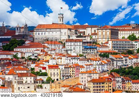 University Of Coimbra Or Universidade De Coimbra Aerial Panoramic View, An Oldest Portuguese Public