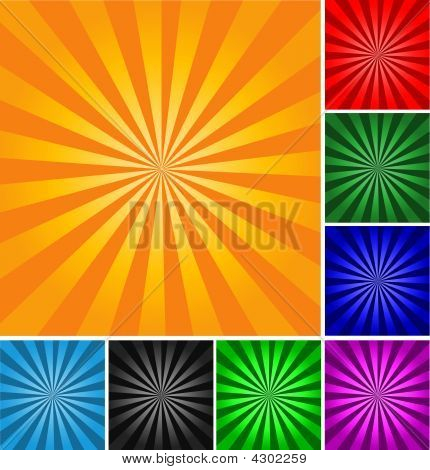 Retro Style Abstract Background. Different Colors And Gradients.