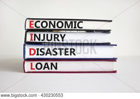 Eidl Symbol. Abbreviation Eidl Economic Injury Disaster Loan On Books. Beautiful White Background. C