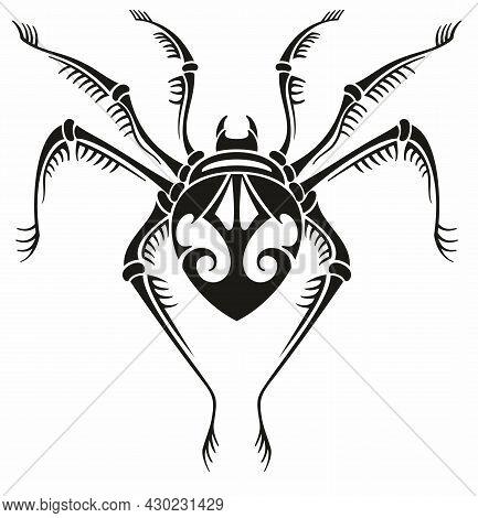Tattoo Spider. Tattoo Tribal Vector Design. Spider