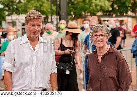 Election Campaign Tour Of The Green Party Germany With Robert Habeck For Parliament Election In Biel