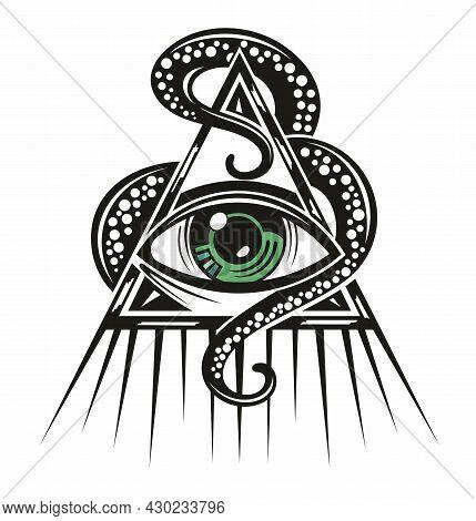 Eye Of Providence. Masonic Symbol For Your Design
