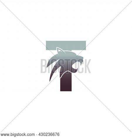 Letter T With Panther Head Icon Logo Vector Template
