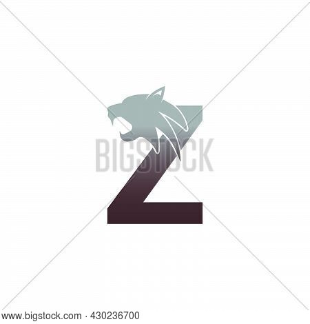 Letter Z With Panther Head Icon Logo Vector Template