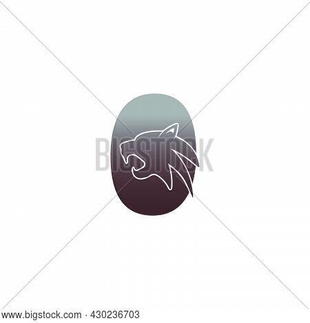 Number Zero With Panther Head Icon Logo Vector Template