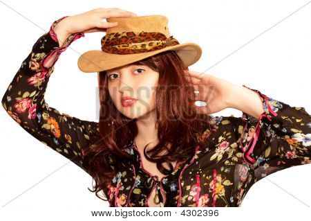 Young Sensual Woman In A Hat