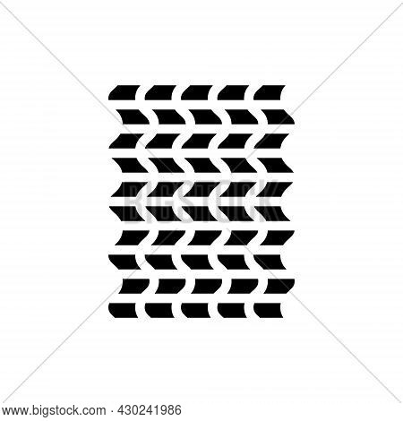 Weaving Material Glyph Icon. Fabric Feature. Fiber Property. Black Symbol. Isolated Vector Stock Ill