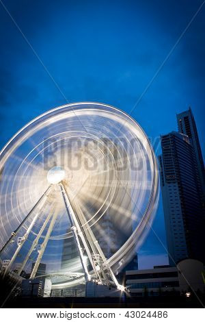 Ferris wheel located in Surfers Paradise, QLD poster