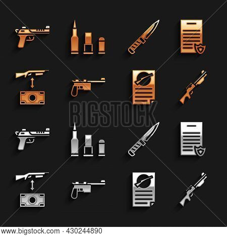 Set Mauser Gun, Firearms License Certificate, Hunting, Buying Assault Rifle, Military Knife, Desert