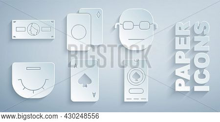 Set Playing Card With Spades, Poker Player, Table, Casino Poker Tournament Invitation, Deck Of Playi