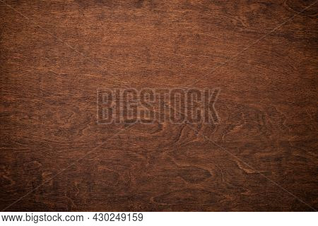 Dark Wood Grain, Brown Wood Board With A Natural Pattern. Wood Background