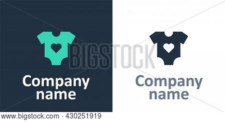 Logotype Baby Clothes Icon Isolated On White Background. Baby Clothing For Baby Girl And Boy. Baby B
