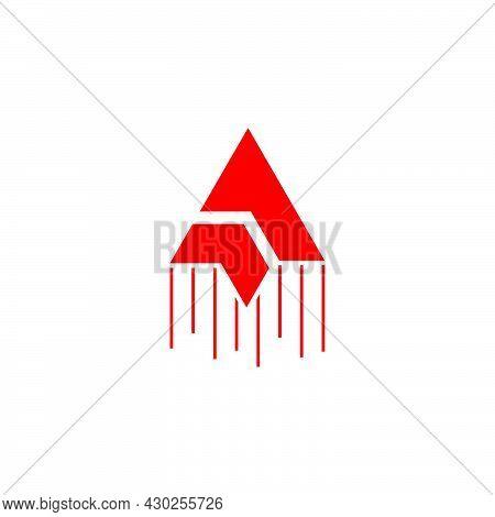 Arrow Swoosh Flying Kite Simple Geometric Logo Vector