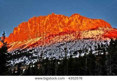 Mount Yamnuska At Sunrise In Hdr