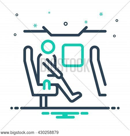Mix Icon For Passenger Wayfaring Peregrination Trek Tour Migrant Tourist Travel Transport Hiker Pilg