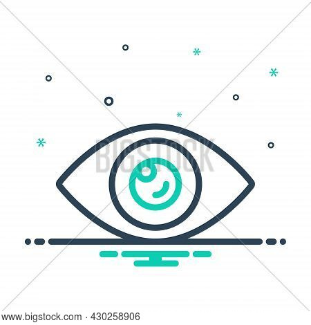Mix Icon For Visible Sight View Vision Eyeball Lens Optical Look Watch Eyesight Peep
