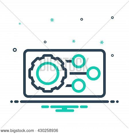 Mix Icon For Feature Featuring Characteristic Specialty Trait Machine Gadget Setting Gear