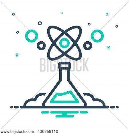 Mix Icon For Science Branch-of-knowledge Area-of-study Atom Forensis Formula Helix Research Beaker S