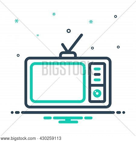 Mix Icon For Television Vintage Broadcast Broadcasting The-small-screen Electronic Antenna Display E