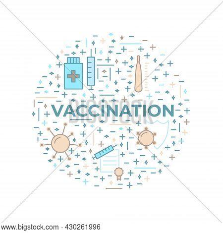 Vaccination, Immunization Line Style Icon Design Element. Vaccines Against Virus, Vaccination Sheldu