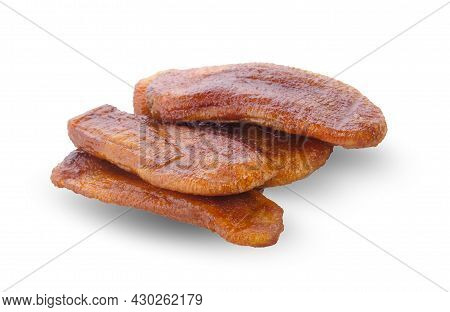 Dried Bananas ,dried Fruit, Dried Sweet Isolated On White Background