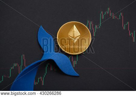 Ethereum Whale Concept. Large Holders Of Coin Manipulated Currency Valuations