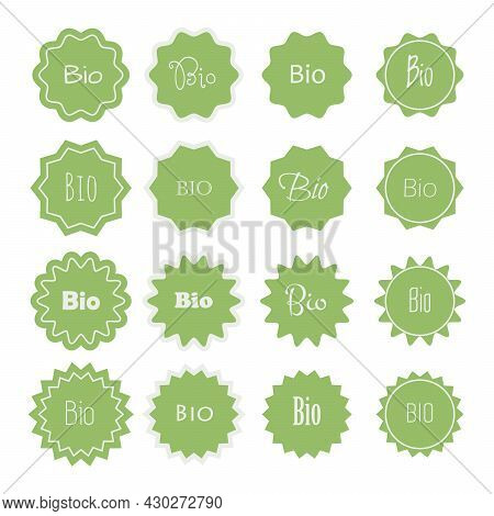 Bio Stickers. Banner For Bioproducts Made Of Biological Resources In Agriculture, Forestry Or Biolog