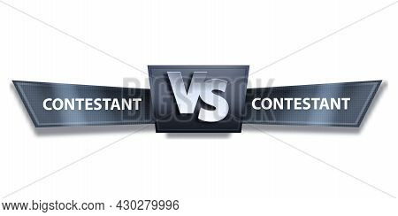 Vs Fight Game Vector Banner, Versus Esport Battle Competition Logo On White, Abstract Team Duel Conc