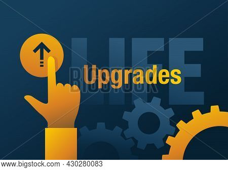 Life Upgrades - Optimizations And Small Changes Of Daily Routine. Vector Illustration