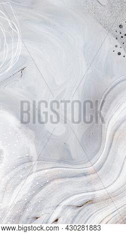 White tone contemporary Memphis textured mobile phone wallpaper illustration