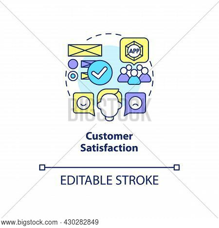 Customer Satisfaction Concept Icon. Product Usage Abstract Idea Thin Line Illustration. User Interac
