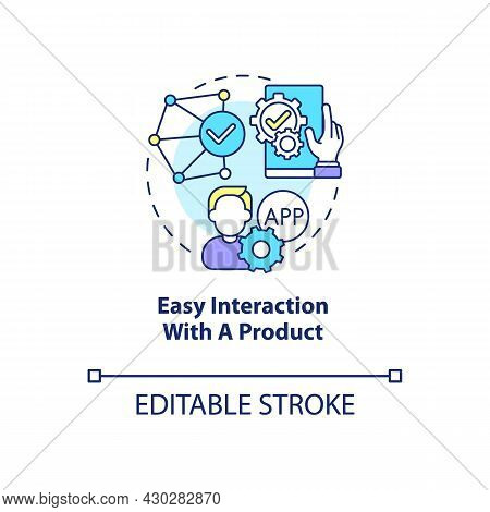Easy Interaction With Product Concept Icon. Product Usage Abstract Idea Thin Line Illustration. Good