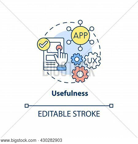 Product Usefulness Concept Icon. Ux Principle Abstract Idea Thin Line Illustration. Fulfilling Clien