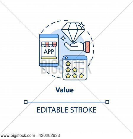 Product Value Concept Icon. Ux Principle Abstract Idea Thin Line Illustration. Competitive Edge. Eas