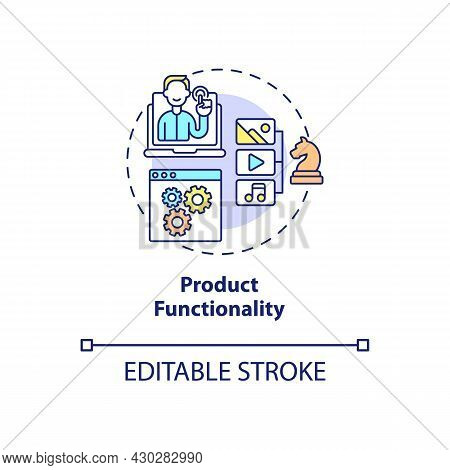 Product Functionality Concept Icon. Ux Rule Abstract Idea Thin Line Illustration. Service Usefulness
