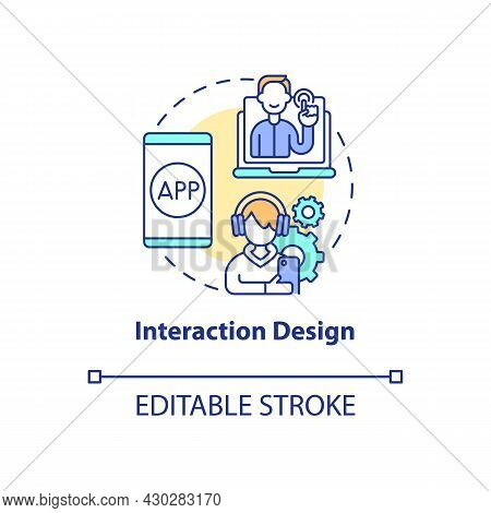 Interaction Design Concept Icon. Ux Design Abstract Idea Thin Line Illustration. Interactive Experie