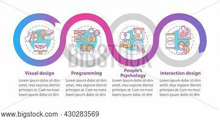 Product Design Vector Infographic Template. Visual Design Presentation Outline Design Elements. Data