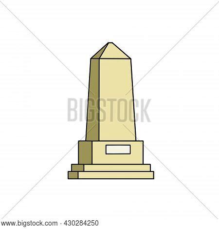 Obelisk. Outline Stone Monument. Historical Monument. High Pillar Memorial And Column.