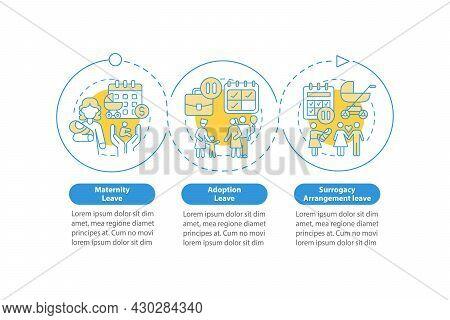 Maternity Leave Types Blue Vector Infographic Template. Presentation Outline Design Elements. Data V