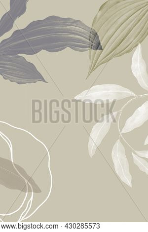 Illustration of tropical leafy background