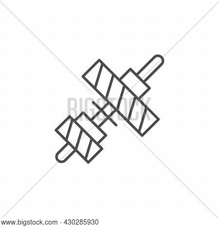 Transmission Or Gearbox Line Outline Icon Isolated On White